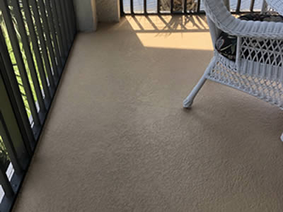 Balcony cleaning after