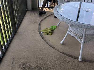 Balcony cleaning before
